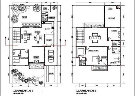 denah rumah minimalis  lantai