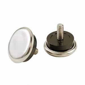 Shepherd 1 1 16 in nickel base adjustable leveler glides for Furniture levelers home depot