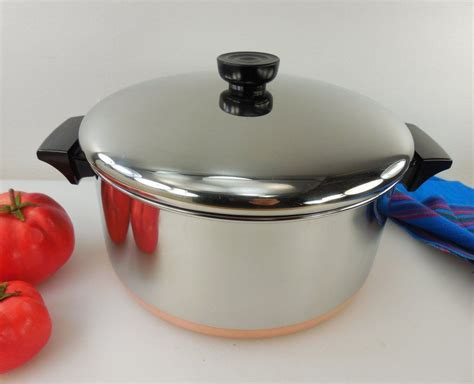 pin  revere ware vintage cookware stainless copper tri ply  olde kitchen