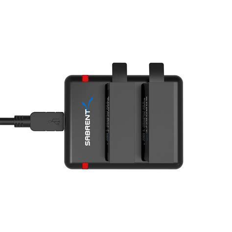 sabrent 2 pack battery set with dual battery charger for