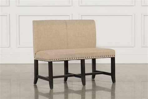 upholstered dining bench with back jaxon upholstered high back bench living spaces