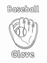 Baseball Coloring Pages Glove Printable Trophy Wifestyle Thetrophywifestyle sketch template