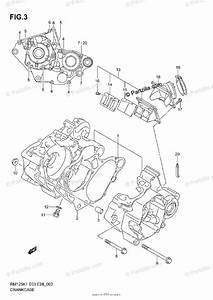 Suzuki Motorcycle 2002 Oem Parts Diagram For Crankcase