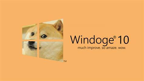 Doge Meme Wallpaper - likeable doge microsoft windows windows 10 dog memes wallpaper no and dog meme