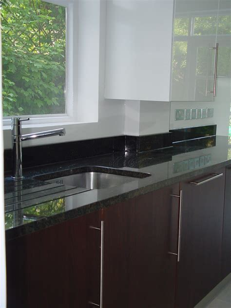 Designer fitted contemporary kitchen in Walnut & Gloss white