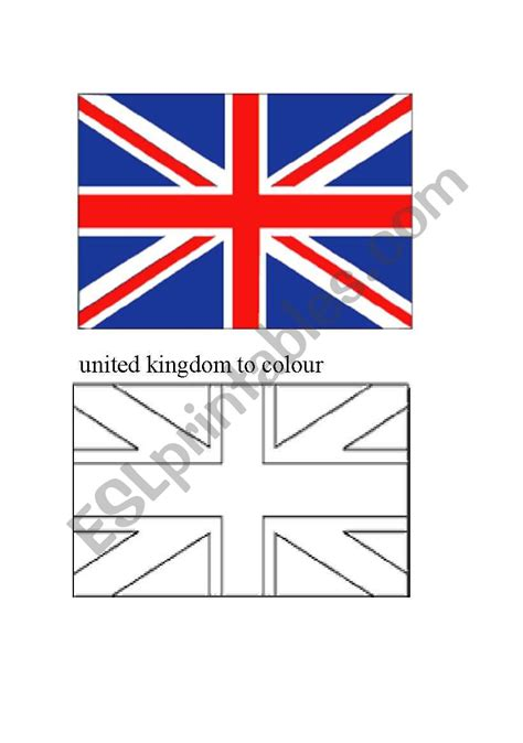 uk flag colors worksheets uk flag to colour in