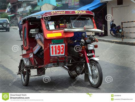 philippine motorcycle taxi philippine land transportation editorial photo image