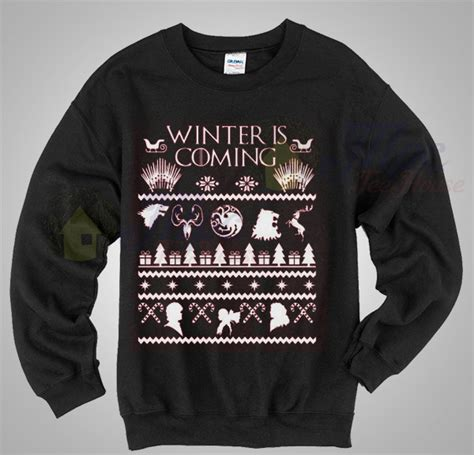 of thrones sweater winter is coming of thrones sweater