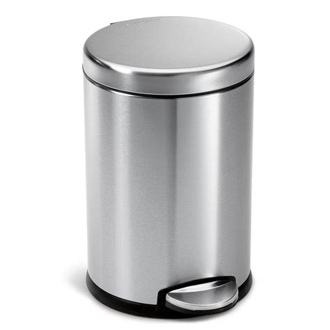 storage container with lid simplehuman 4 5 liter fingerprint proof brushed stainless