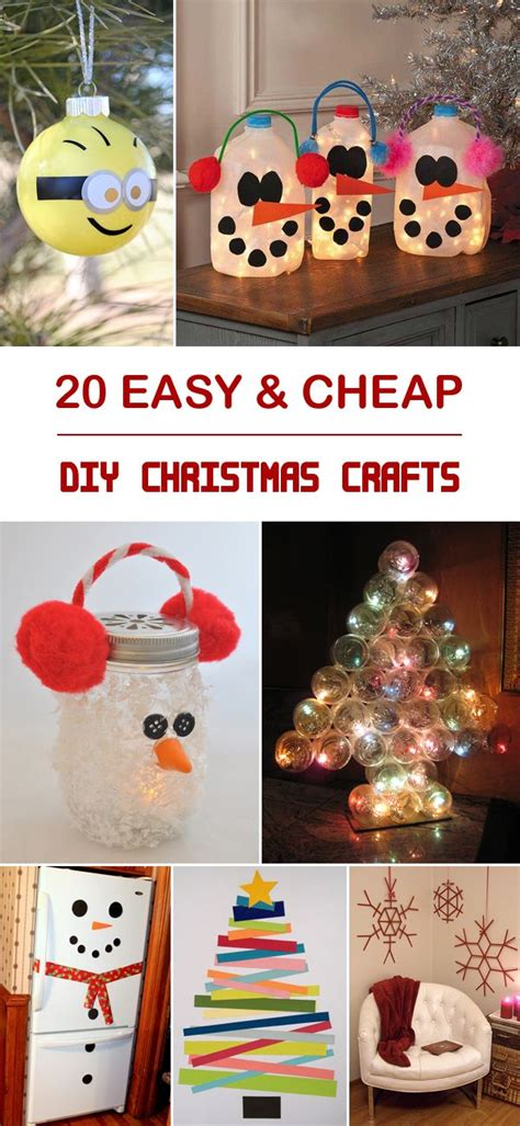 1000+ Ideas About Cheap Christmas Crafts On Pinterest