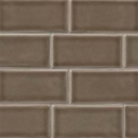 MSI Highland Artisan Taupe Glazed Subway Tile Backsplash