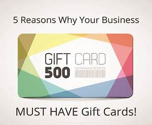 5 reasons why you need a gift card program for your for Gift card program for small business