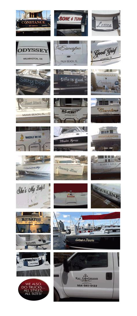Boat Lettering In Fort Lauderdale by Portfolio Boat Lettering Service Fort Lauderdale South