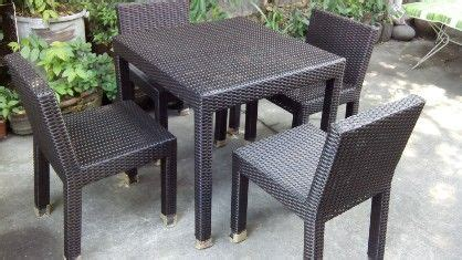 Who Sells Outdoor Furniture by Dining Table 4seater Synthetic Rattan Outdoor All Buy