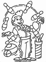 Cirque Circus Imprimer Acrobate Clown Jongleur Colorier Maternelle Clowns Juggler Automne Kleurplaten Visiter Arnoldo Populaire Zimmpel Websorf Crayons sketch template