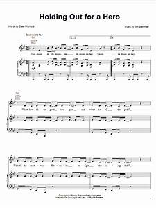 Holding Out For A Hero sheet music by Frou Frou (Piano ...