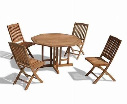 Chairs Table Garden Gateleg Folding Patio Leaf