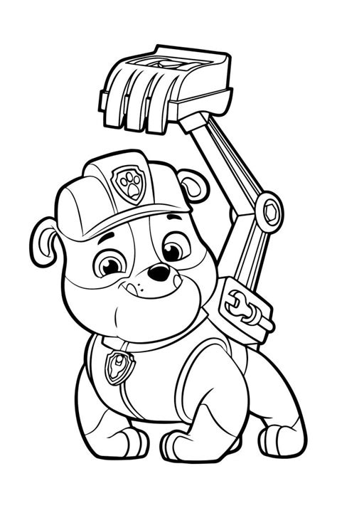 Coloring Pages For Kids Paw Patrol (5) Tenders Coloring