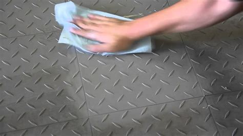 cleaning garage floor tiles by
