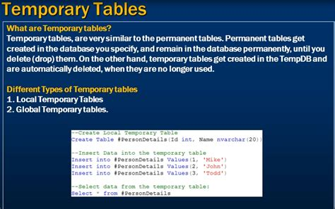 sql server temporal table part 17 temporary tables in sql server gester lin 博客园