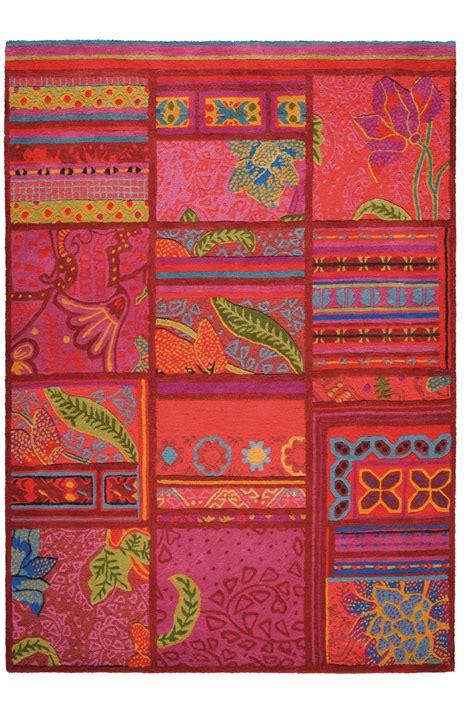 tapis multicolore tuft 233 main laine et soie v 233 g 233 tale