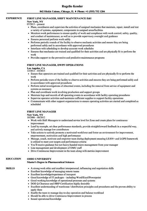 line manager cover letter resume line resume ideas