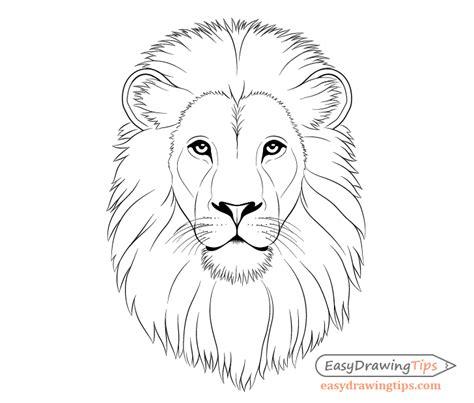 draw lion face head step  step easydrawingtips