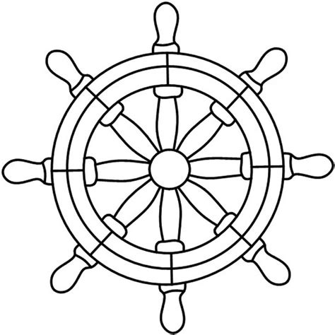 Boat Wheel Outline by Ships Wheel Clip Art Cliparts Co