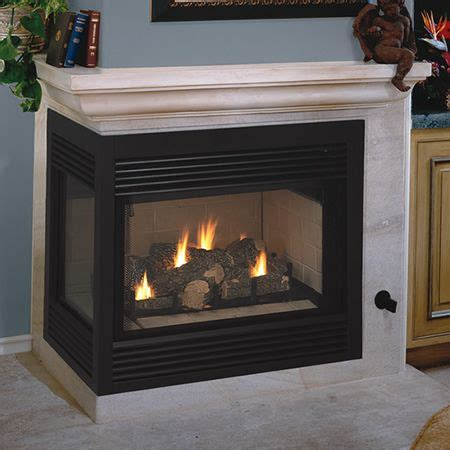gas fireplace unit vantage hearth direct vent left sided corner fireplace