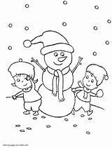 Coloring Winter Pages Preschool Printable Seasons sketch template