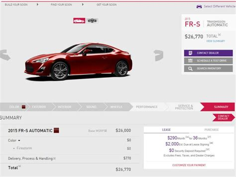 Build A Car Website by Start From Scratch Build Your Own Car Autobytel
