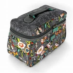 Oilily Beauty Case : oilily french flowers kosmetiktasche l beauty case in pink grey oder tobacco ebay ~ Orissabook.com Haus und Dekorationen