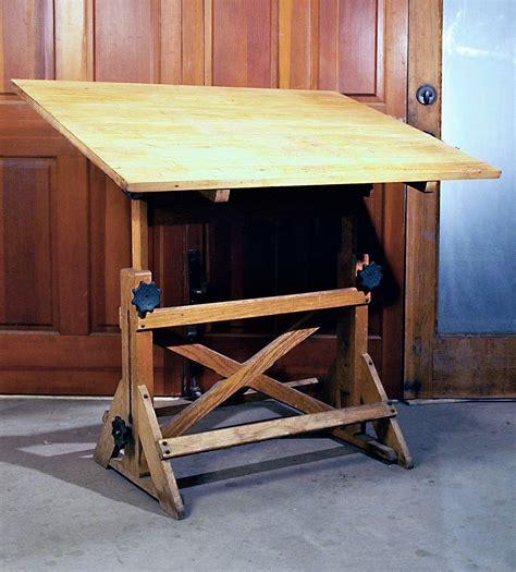1930s vintage industrial fully adjustable drafting table