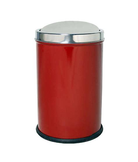 Hmsteels Stainless Steel Red Dustbin Buy Hmsteels