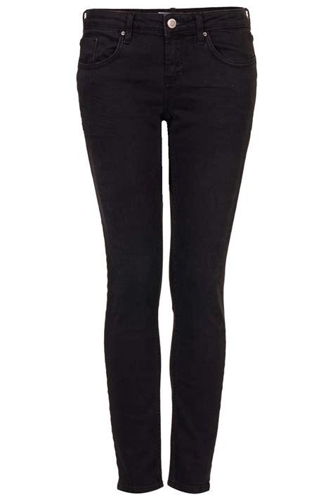 topshop moto washed black baxter jeans in black lyst