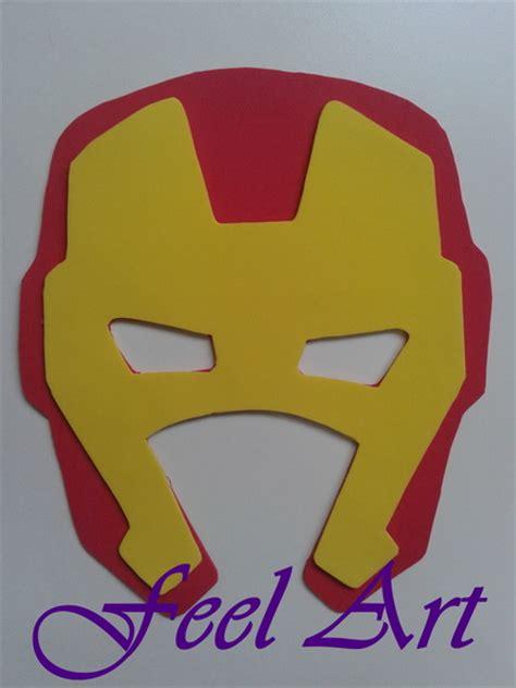 Máscara em EVA Homem de Ferro no Elo7 Feel Art