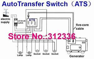 14 Wire 10kw Ats Controller Generator Controller Automatic