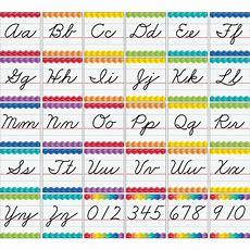 Cursive Letter Alphabet Handwriting Bulletin Board Cards