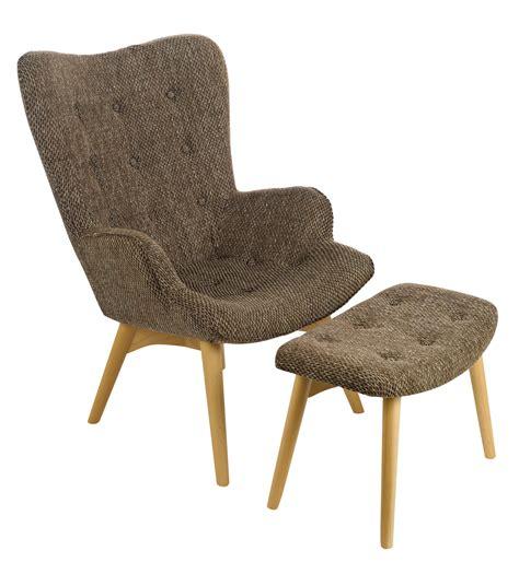 repose pied de bureau fauteuil rembourré joan avec repose pieds marron pols
