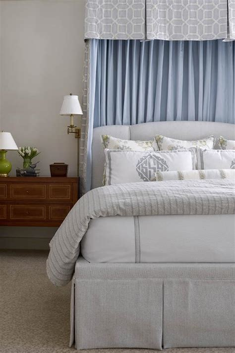 light gray bedroom curtains light gray bed with blue valance and curtains
