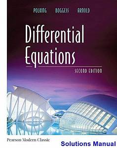 Differential Equations 2nd Edition Polking Solutions