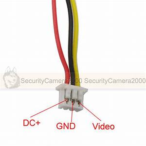 1 25mm 3 Core Video Power Cable For Board Camera