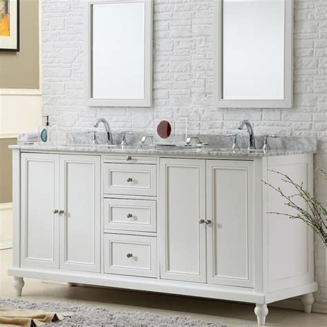 Shop Vanities by Shop Direct Vanity Sink 70 Inch Classic Pearl White