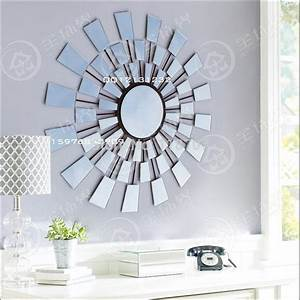 Aliexpress buy metal glass sunburst wall art