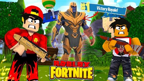 roblox fortnite thanos   victory royale youtube