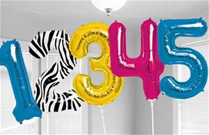 Large letter number balloons party city for Small letter balloons party city