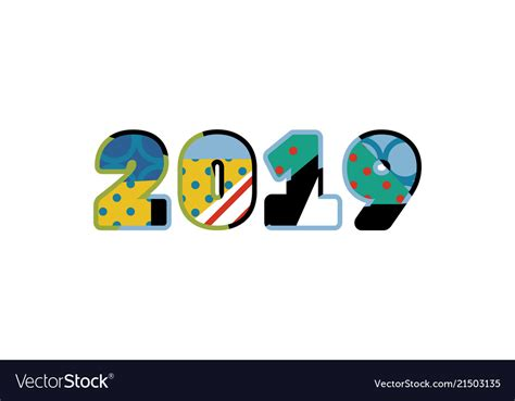 2019 Concept Word Art Royalty Free Vector Image