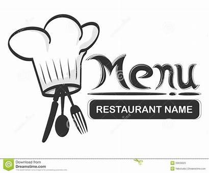 Restaurant Menu Fork Chef Spoon Hat Cafe