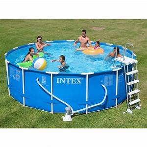 Piscine Tubulaire Intex : piscine tubulaire intex metal frame x m ~ Nature-et-papiers.com Idées de Décoration