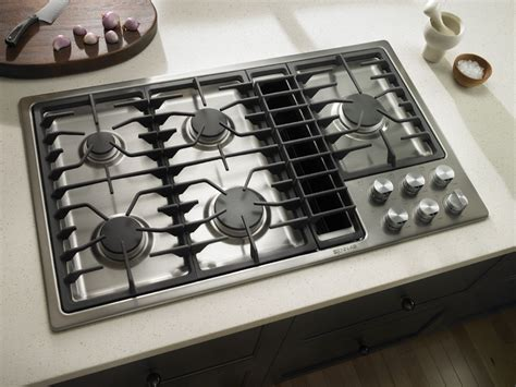downdraft gas cooktop ventilation jenn air stainless steel kitchen cooktops system venting appliances visit